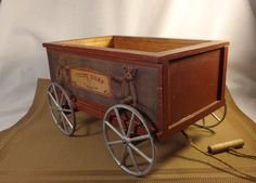 Teddy Bear Soap Wagon   On Rolling Wheels by TEAandSHAKER on Etsy, $49.00