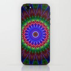 Mandala Colorexplosion iPhone & iPod Skin by Christine baessler - $15.00