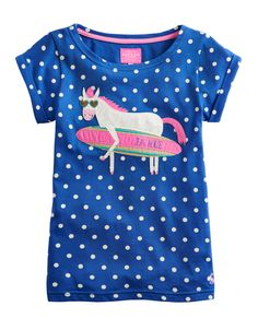 """#Joules T-Shirt """"Maggie"""" - € 24,95 - Wikimo Kindermode, Kinder Shirt, blau gepunktet by Tom Joule"""