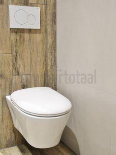 Houtlook toilet, keramisch parket, houtlook tegels