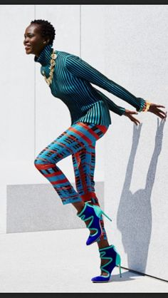 Atong Arjok by Martien Mulder for Lucky Magazine (september 2013). Courtesy of Afrolistas & The City. #AtongArjok #fashionizblackmag #luckymag #africanfashion #africanwomen #fashion #prints #blackfashion #blackwomen