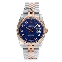 Rolex Datejust Swiss ETA 2836 Movement Two Tone Number Markers with Blue Dial    $318.00  #cheap #luxury #watches