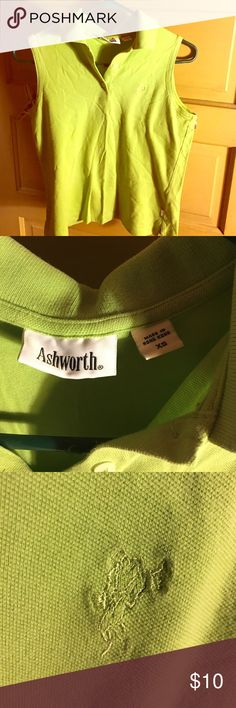 Green sleeveless golf shirt Ashworth XS sleeveless lime green golf shirt. Ashworth Tops Button Down Shirts