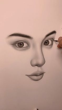 Simple Face Drawing, Realistic Face Drawing, 3d Art Drawing, Girl Face Drawing, Art Drawings Beautiful, Art Drawings Sketches Simple, Pencil Art Drawings, Cool Drawings, Drawing Tricks
