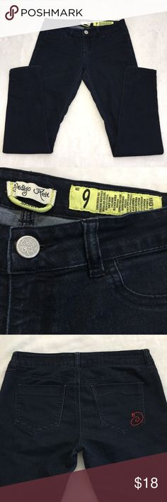 "Indigo Rein Skinny Jeans Dark skinny jeans in excellent condition. Approximate inseam 30"". Indigo Rein Jeans Skinny"