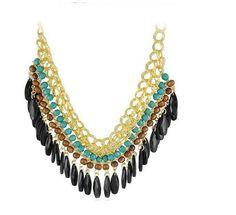 Fashion Crystal Chain Collar Choker Statement Bib Charm Necklace Pendant Jewelry