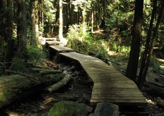 HIKE. Hiking trails include the Baden-Powell Trail, an arduous 42-kilometre (26 mi) long hike from West Vancouver's Horseshoe Bay to Deep Cove in the District of North Vancouver.