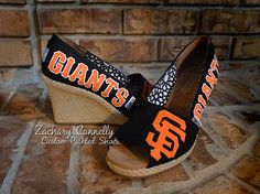 San Francisco Giants Toms Wedges by ZacharyConnellyArt
