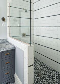Fun tiling in shower