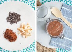 This velvety chocolate chia pudding is super easy to make. It only uses four ingredients and comes together within Chocolate Chia Pudding, Sprout Recipes, Sprouts, Dairy Free, Breakfast, Health, Easy, Food, Morning Coffee