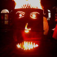 On fire Pumpkin Carving, Fire, Pumpkin Carvings
