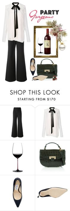"""""""Holiday Party Gorgeous"""" by jacque-reid ❤ liked on Polyvore featuring Tory Burch, Chloé, Riedel, Aspinal of London, Jimmy Choo and Gucci"""