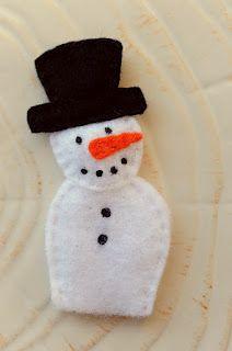 Holiday Finger Puppets.  Snowman, Santa, Rudolph, elf, Christmas tree