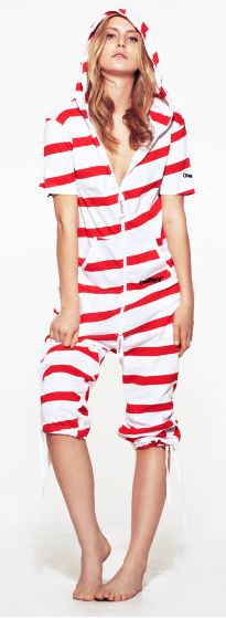 red, white, red and white, stripes, pajama, one piece pajama, PJ, PJs, onesie, adult onesie, adult one piece pajama, cozy, comfort