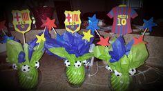 Centros de mesa. Club Barcelona.