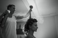Bridal Hair in process @silviacandame