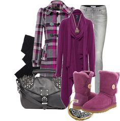 """""""Ugg: Fuschia"""" by webmusing on Polyvore"""