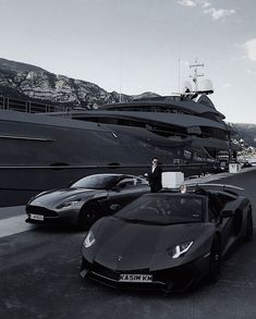 Yacht, Aston Martin or Lamborghini? Luxury Sports Cars, Top Luxury Cars, Sport Cars, Fancy Cars, Cool Cars, Lux Cars, Black And White Aesthetic, Motor Car, Dream Life
