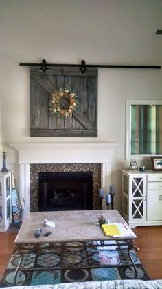 20 living room with fireplace that will warm you all winter barn door tv cover solutioingenieria Gallery