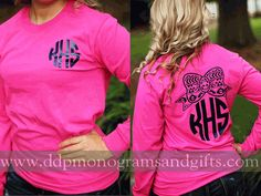 Size Medium. PERSONALIZED FULL BACK AZTEC BOW LONG SLEEVE SHIRT(SHIPS IN 2-3 WEEKS)