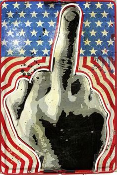 Denial Original Art - Fuck You Street Artists, Denial, Original Artwork, Finger, Middle, The Originals, Illustration, Fingers, Illustrations