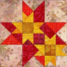 Triple Star quilt block - just a pic