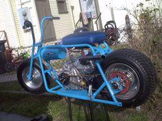 custom blue minibike