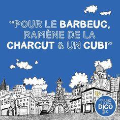 """""""Pour le barbeuc ramène de la charcut et un cubi""""  Can you identify the apocopes?"""