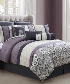 Another great find on #zulily! Gray & Lilac Darla Quilt Set #zulilyfinds