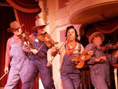 A trip to Disneyland isn't complete for us unless we see several shows by Billy Hill and the Hillbillies. (photo by me, October 2005)