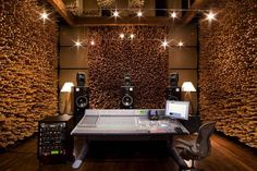 """A perfect balance of art and function, this room's killer wood design provides an ideal setting for editing, overdubbing, and mixing."" - Studio C at Blackbird Studios"