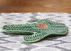 Cactus Succulent Spoon Rest Jewelry Tray Soap by BackBayPottery