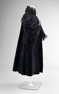 Mourning Coat Made Of Silk And Made By Jean-Philippe Worth, The House of Worth - Paris, France   c.1907   -   The Metropolitan Museum of Art