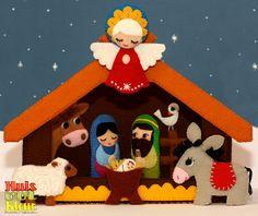 huisvolkleur: Kerststal