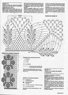 Filet Crochet, Crochet Lace Edging, Crochet Borders, Crochet Diagram, Thread Crochet, Irish Crochet, Crochet Doilies, Crochet Stitches, Lace Patterns