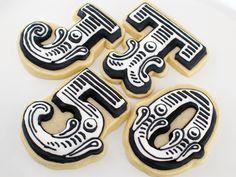 vintage letter cookies