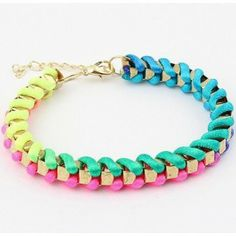 Classic Women Mixed Colors Handmade Rope Bracelets for Christmas