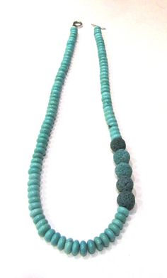 Set jewelry-Turquoise necklace-Sterling by PlanetEarthHandmade