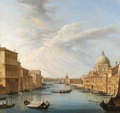 Pietro Bellotti L'ingresso del Canal Grande con la basilica della Salute