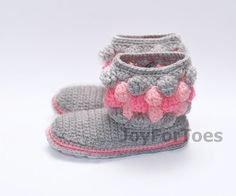 #Crochet #Women #Boots #Slippers for the #House by #JoyForToes