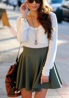 40 Pretty Teen Fashion Outfits | http://stylishwife.com/2014/11/pretty-teen-fashion-outfits.html #teenfashionoutfits