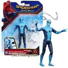 Hasbro Year 2017 Marvel Spiderman Homecoming Series 5-1/2 Inch Tall Figure - TECH SUIT SPIDER-MAN with Web-Sling