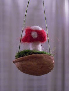 needlefelted toadstool