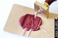 Personalized Custom Old English Initial Gold Plated Wax Seal Stamp x 1