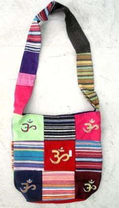 Cotton Canvas Om Design Tote Hippie Indian Sling Cross Body Bag by Krishna Mart India, http://www.amazon.com/dp/B005GO4WFO/ref=cm_sw_r_pi_dp_YnIVpb0X7Z2Q3