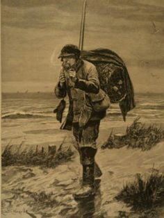 Another treasured image from the past.From the 1894 Illustrated London News / On The Way To Decoys Hunting & Smoking a Pipe.