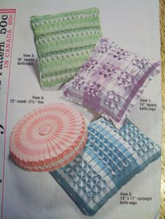 Vintage Smocked Gingham Pillows