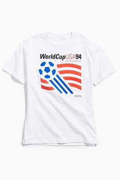 ac41d6ee2 Slide View  1  World Cup USA 1994 Logo Tee Graphic Shirts