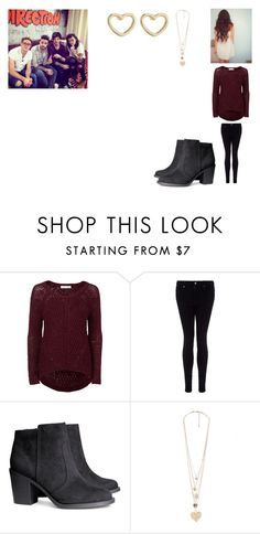 """""""Interview with One Direction"""" by cavallaro ❤ liked on Polyvore featuring Primp, Forever New, AG Adriano Goldschmied, H&M, Forever 21 and Marc by Marc Jacobs"""