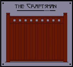The Craftsman - custom Arts Crafts wood fence - Dragonfly Studio Craftsman Style Porch, Craftsman Exterior, Craftsman Bungalows, Modern Craftsman, Jugendstil Design, Porch Columns, Backyard Pergola, Patio Roof, Curved Pergola